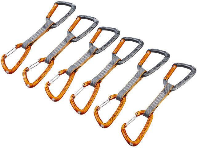Skylotec Flint Express Mix express set 11cm 6 Pieces oranje/zilver